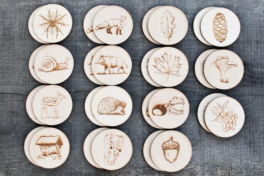 drewniana zabawka gra montessori dla dzieci