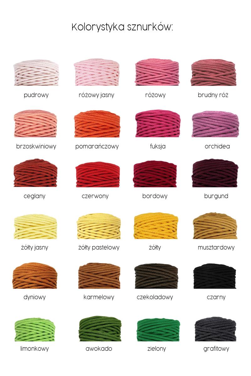 kolorystyka sznurków