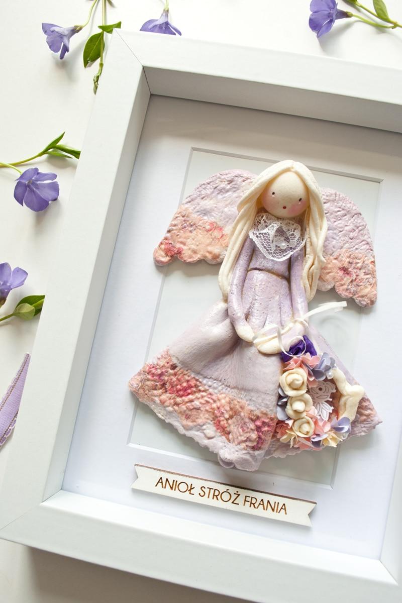 Anioł stróż w ramce na prezent